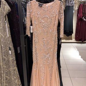 Pisarro Nights Blush Sequined Dress Size 4